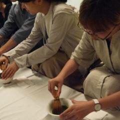 Making Maccha at the Tea Ceremony Exhibition