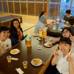 Welcome party with Kyushu University tutors!