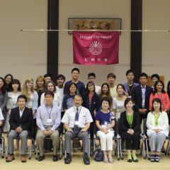 Last group photo with Kyushu University members and our homestay host families!
